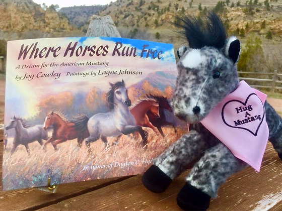 Where Horses Run Free and Plush Horse Gift Package