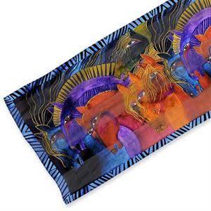 Wild Horses silk scarf