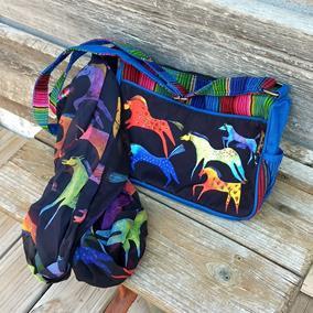 Dancing Horses Scarf and Bag Set by Laurel Burch
