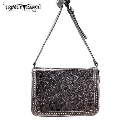 Trinity Ranch Tooled Design Messenger Bag