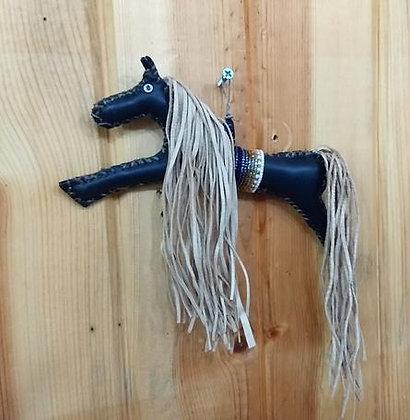 Lakota Leather Horse Ornament