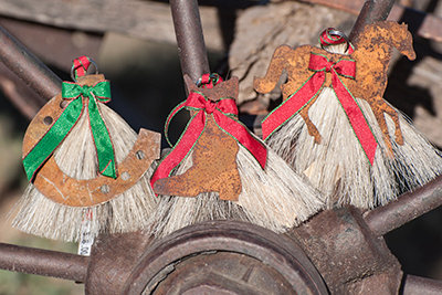 Cowboy Collectibles Horsehair Ornament Trio