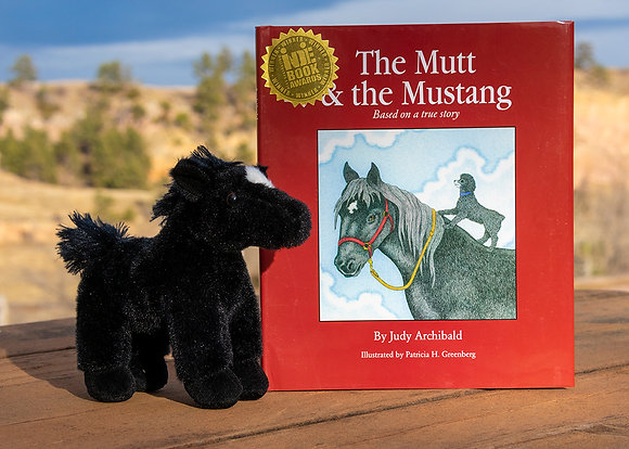 The Mutt and the Mustang Book and Plush Horse Gift Package