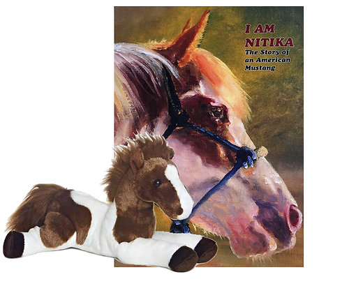 I Am Nitika Book and Plush Horse Gift Package