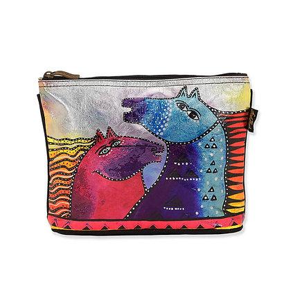 Rainbow Mares Cosmetic Bag by Laurel Burch