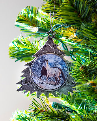 Wild Horses Christmas Tree Ornament
