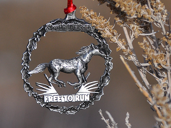 Free to Run Pewter Ornament