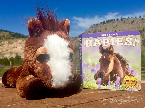 Mustang Babies! Book and Plush Horse Gift Package