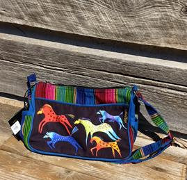 Dancing Horses Crossbody Bag by Laurel Burch