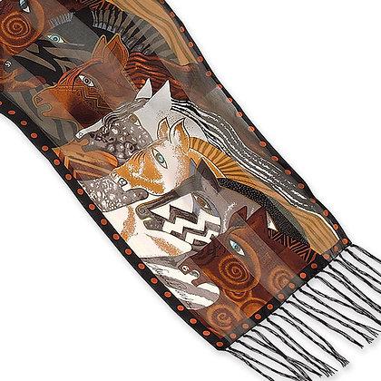Moroccan Mares Silk Scarf