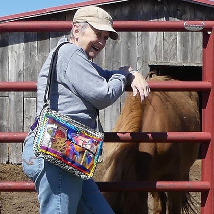 Patchwork Horses Crossbody Bag