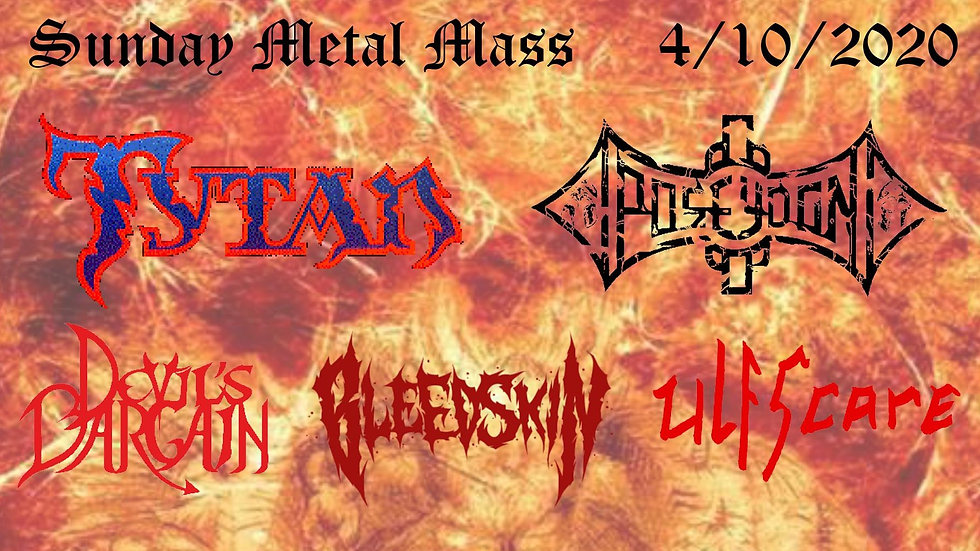 Sunday Metal Mass (Ticket includes 1 free drink!)
