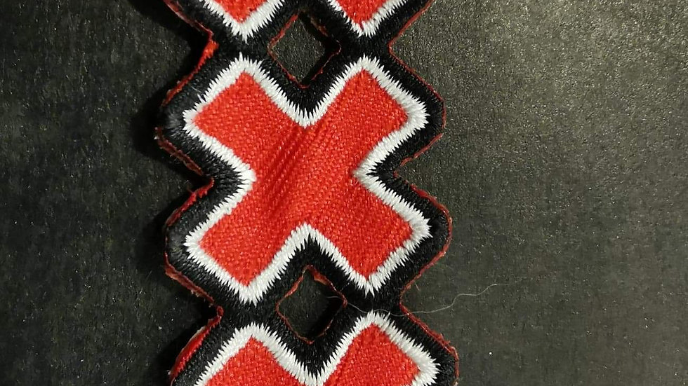 Small triple x patch