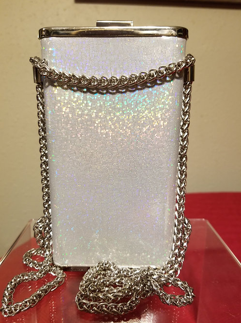 Silver Matalic Chain bag