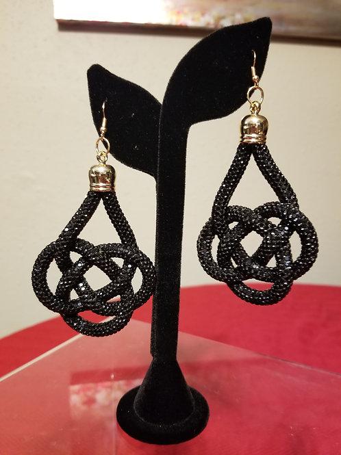 Black Rhinestone Earrings