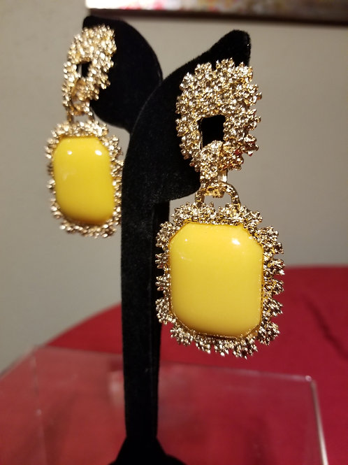 Bold Yellow & Gold Earrings
