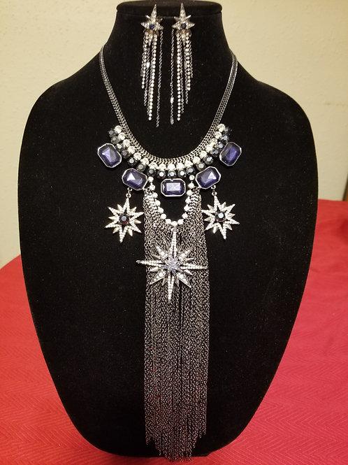 Sapphire & Rhinestone Set