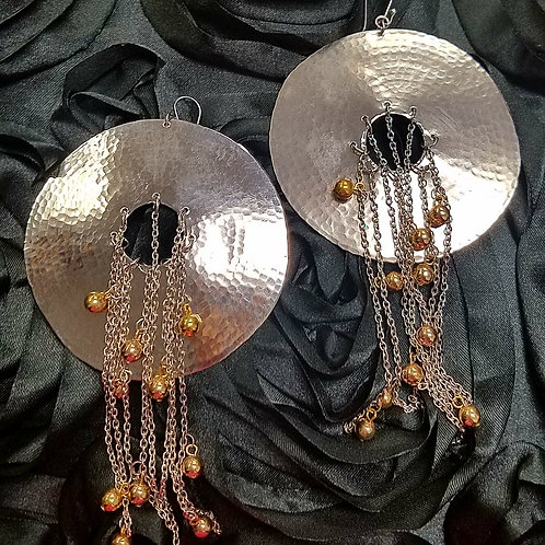 Large Disk Earrings