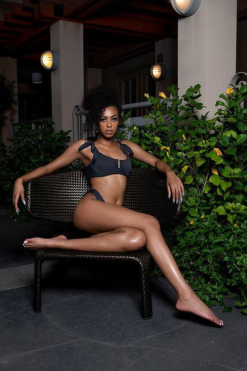 Gray Ribbed Bikini
