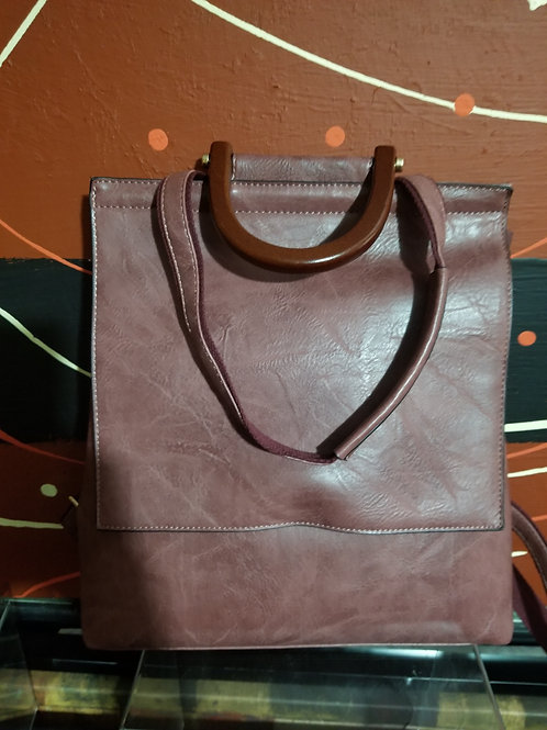 Plum Backpack Purse
