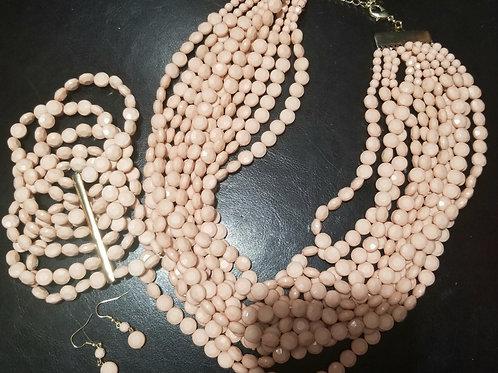 Peach Necklace Set
