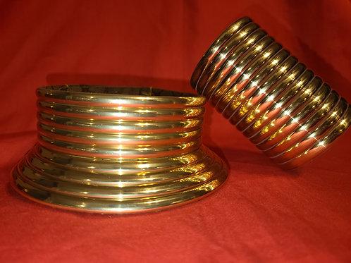 Gold Choker & Braclet Set