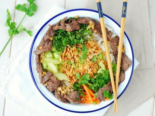 Bo bun {salade vietnamienne au bœuf}