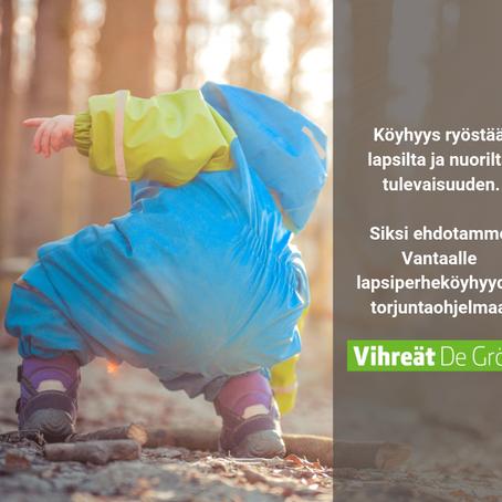 """Aloite lapsiperheköyhyyden torjumisesta: """"Köyhyys ryöstää nuorelta tulevaisuuden."""""""