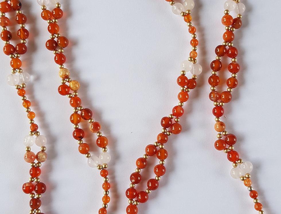 Fire Agate/Rose Quartz Yoga Necklace