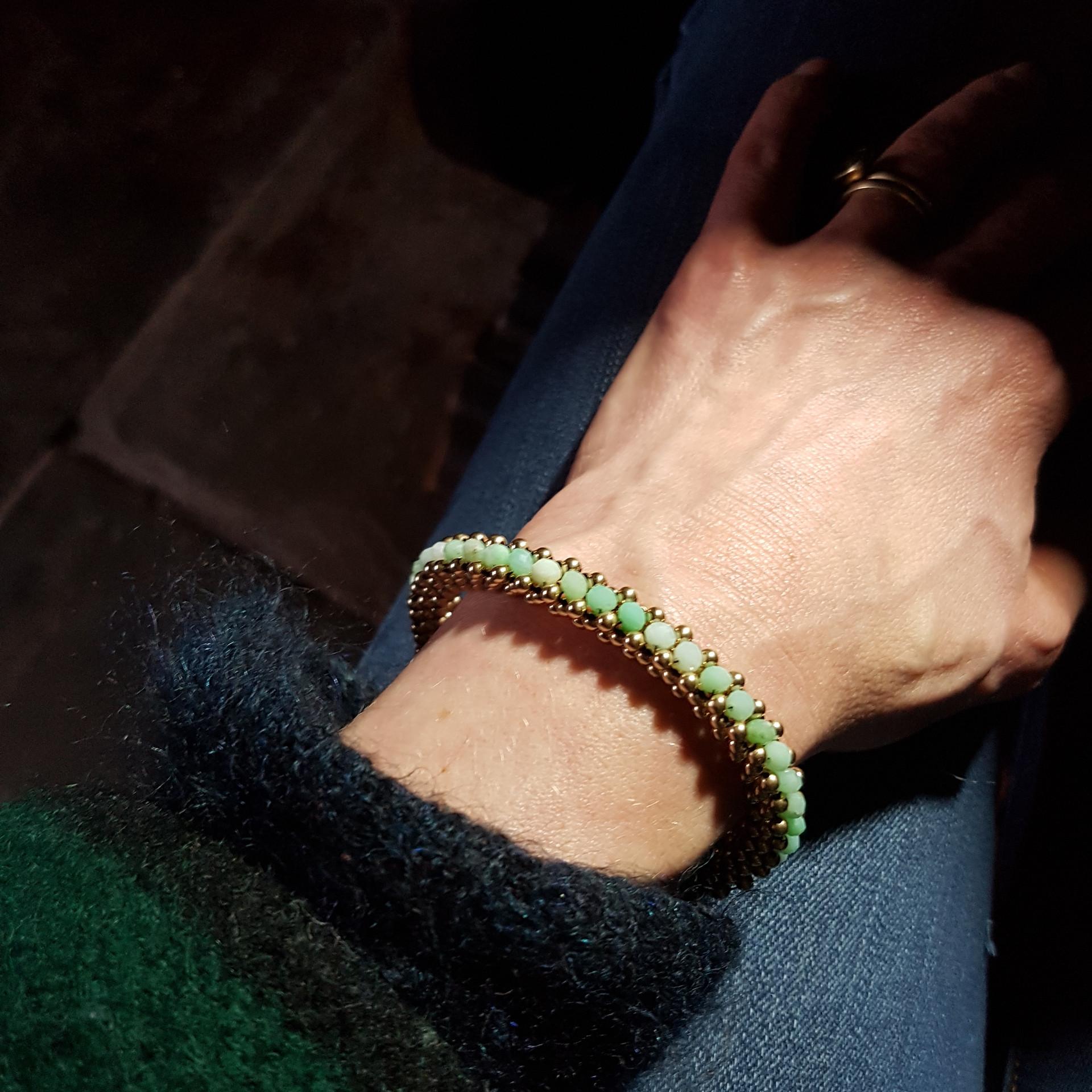 Chrysoprase Cuff Bracelet