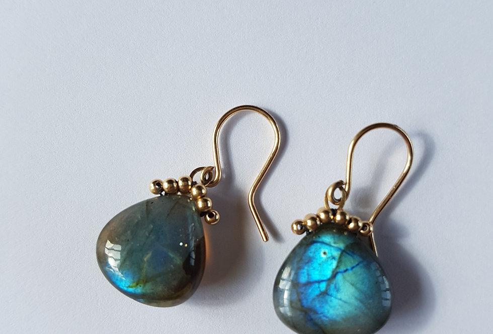 Labradorite Briolette Earrings
