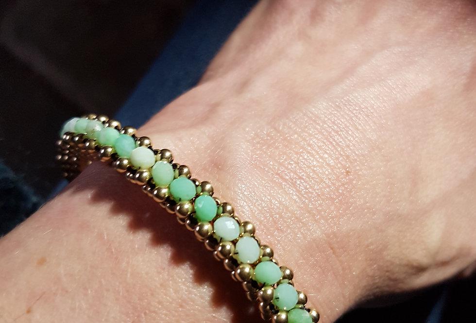 Large Chrysoprase Cuff Bracelet