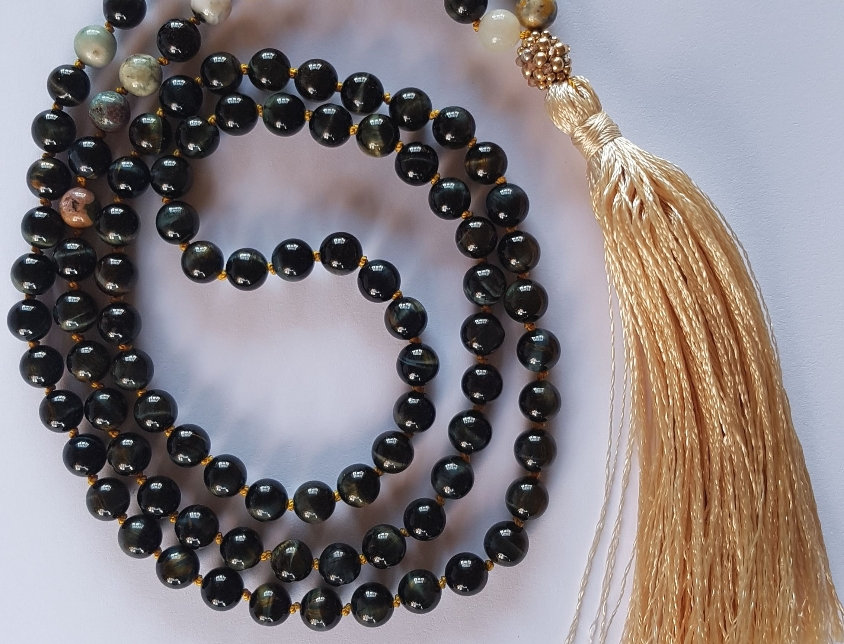 Blue Tiger Eye Mala