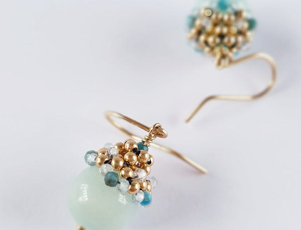 Amazonite Acorn Earrings