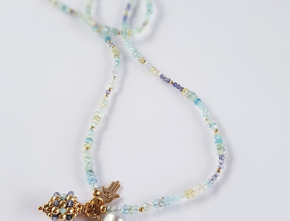 Aquamarine Necklace/Bracelet Combo