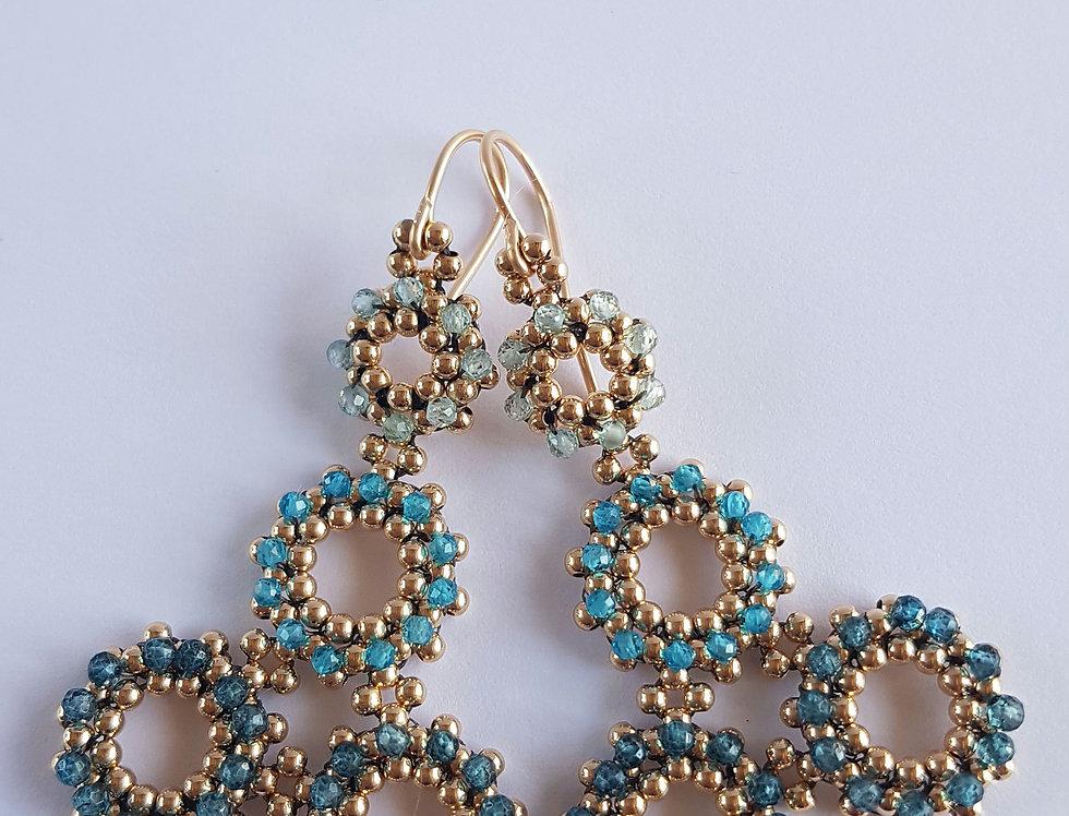 Santolina Earrings in Blue