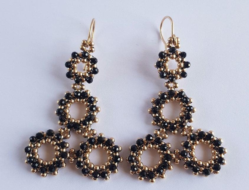 Santolina Earrings in Black