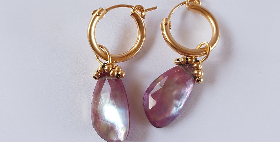 Ruby Doublet Hoops