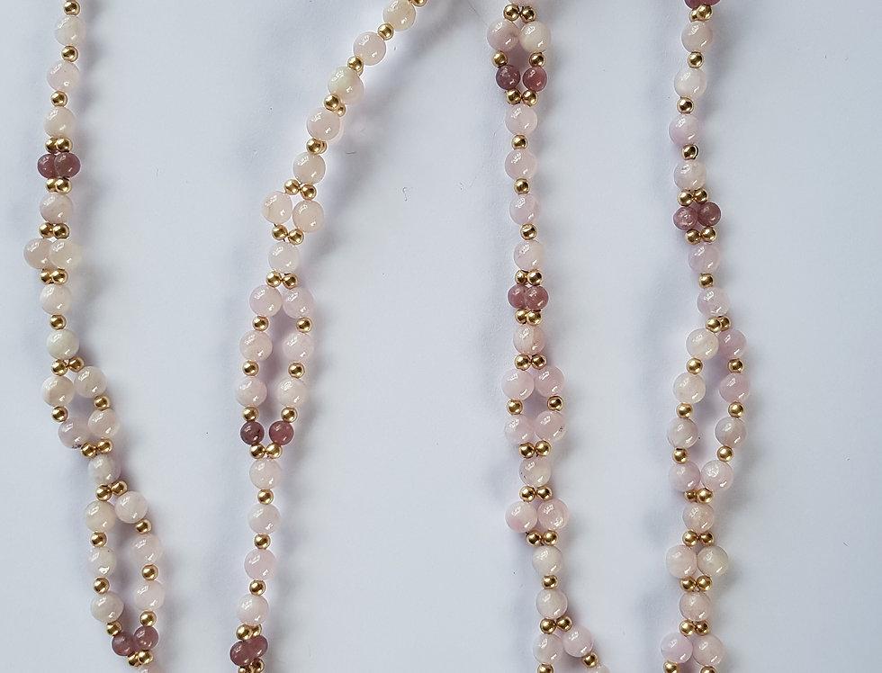 Kunzite/Pink Tourmaline Yoga Necklace