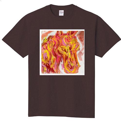 CANNAイラストTシャツ(チャコール)