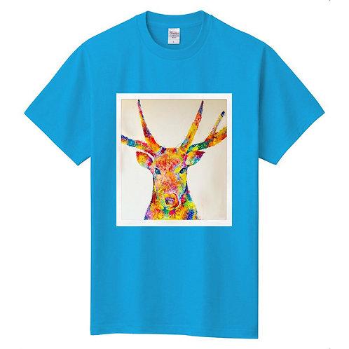 CANNAイラストTシャツ(ブルー)