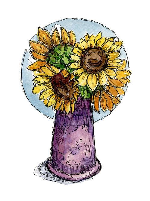 Sunflowers (5x7 PRINT)