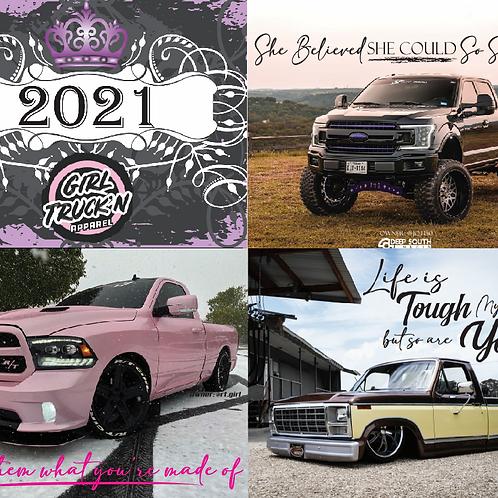 2021 Girl Truck'n Calendar
