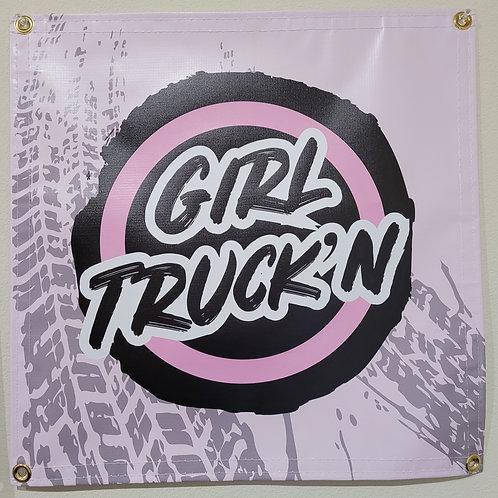 Girl Truck'n 20x20 Banner