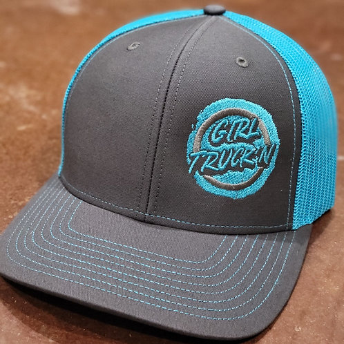 Charcoal/Neon Blue