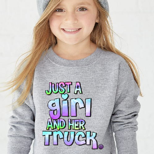 Just a Girl and her Truck-Toddler
