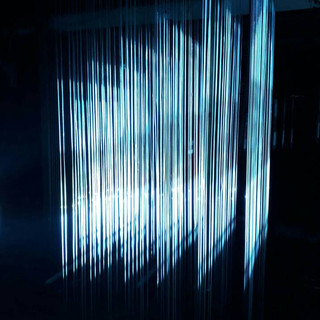 String Composition - Serie 2, experiment process with projectors