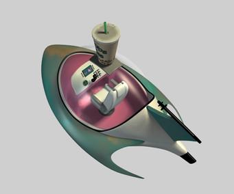 Boba Tea Delivery Spaceship