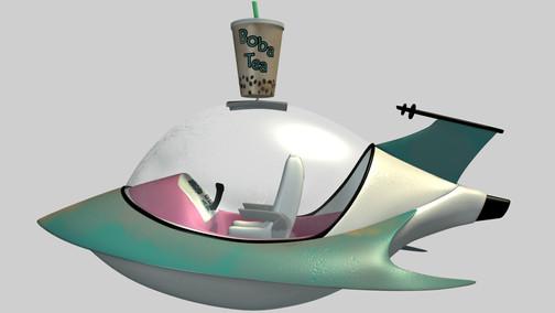 Boba Tea Delivery Space Ship