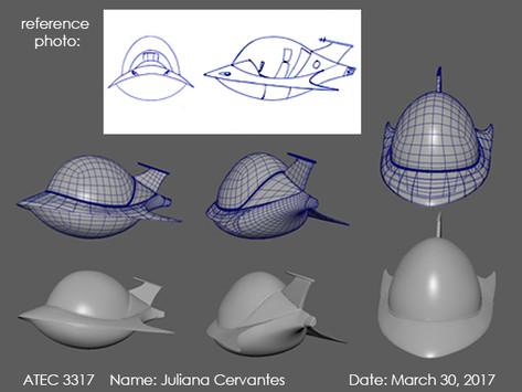 Spaceship Model Sheet